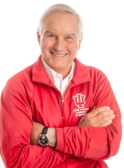 Rob in an IU jacket